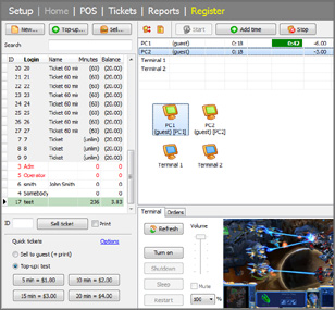 Internet Cafe Software screenshot